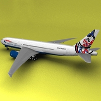 Boeing 777 British Airways Whale Rider 3D Model