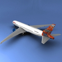 Boeing 777 British Airways Wunala dreaming 3D Model