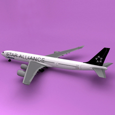 a340-600 Star Alliance 3D Model