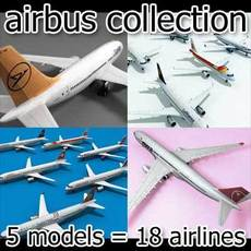 airbus collection 3D Model