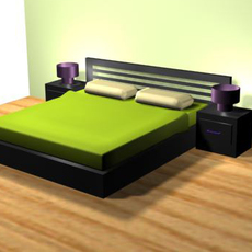 bed set 3D Model