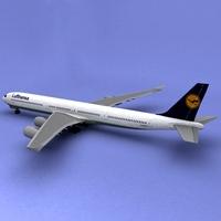a340-600 Lufthansa 3D Model