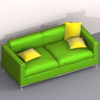 """sofa """"Alea"""" 3D Model"""