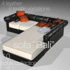 """sofa """"Bali"""" 3D Model"""