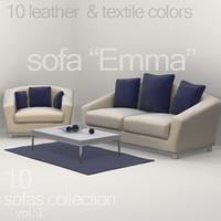 """sofa """"Emma"""" 3D Model"""