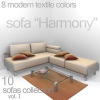 """sofa """"Harmony"""" 3D Model"""