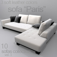 "sofa ""Paris"" 3D Model"