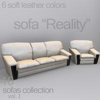 "sofa ""Reality"" 3D Model"