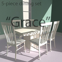 "Dining set ""Grace"" 3D Model"