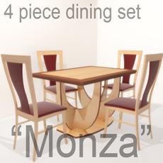 "Dining set ""Monza"" 3D Model"