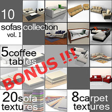 10 Sofas Collection (vol.1) 3D Model