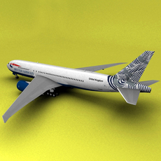 Boeing 777 British Airways Japan 3D Model