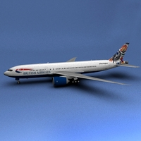 Boeing 777 British Airways Polar 3D Model