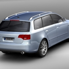 Audi A4 2006 avant 3D Model