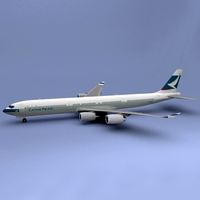 a340-600 Cathay 3D Model