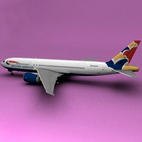 Boeing 777 British Airways Demark 3D Model