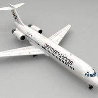 boeing 717 3D Model