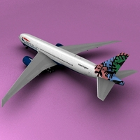 Boeing 777 British Airways 3D Model