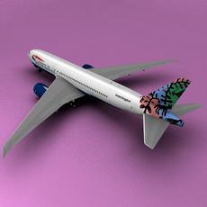 Boeing 777 British Airways 3D Model