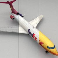 boeing 727 cargo 3D Model