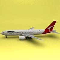 Boeing 767 Qatas 3D Model