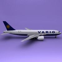 Boeing 767 Varig 3D Model