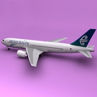 Boeing 767 Air New Zealand 3D Model