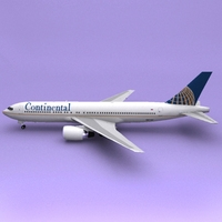 Boeing 767 Continental 3D Model