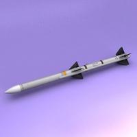 AIM-120 AMRAAM 3D Model