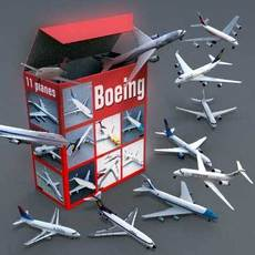 boeing collection 3D Model