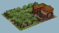 Farm House Set 3D Model