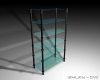 Glass Shelves 3D Model