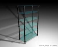 Glass Shelves 3D Model