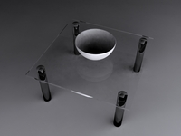 Glass Table & Bowl 3D Model