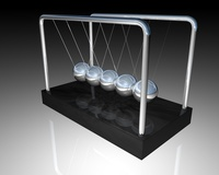 Newton's Cradle & Marble Base 3D Model