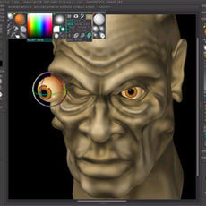 Modeling a head in zbrush