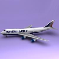 Boeing 747 Transaero 3D Model