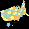 3d United States of America Map 3D Model