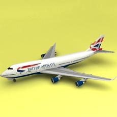 Boeing 747 British Airways 3D Model