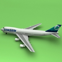 Boeing 747 Corsiar 3D Model