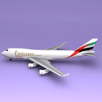Boeing 747 Emirate 3D Model
