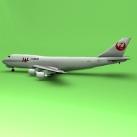 Jal Cargo 747 3D Model