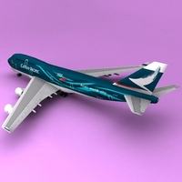 Boeing 747 Cathay 3D Model