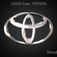 Toyota 3d Logo 3D Model