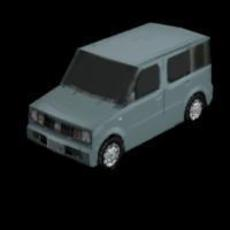 Nissan Cube 3D Model