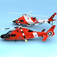 USCG hh-65 and mh-68 collection 3D Model