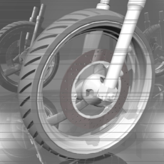 Yamaha Seca II Front Wheel 3D Model
