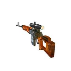 Svd Sniper 3D Model