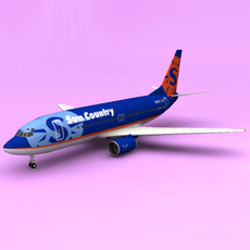Boeing 737 SunCountry 3D Model