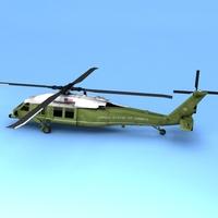 VH-60 Marine One 3D Model